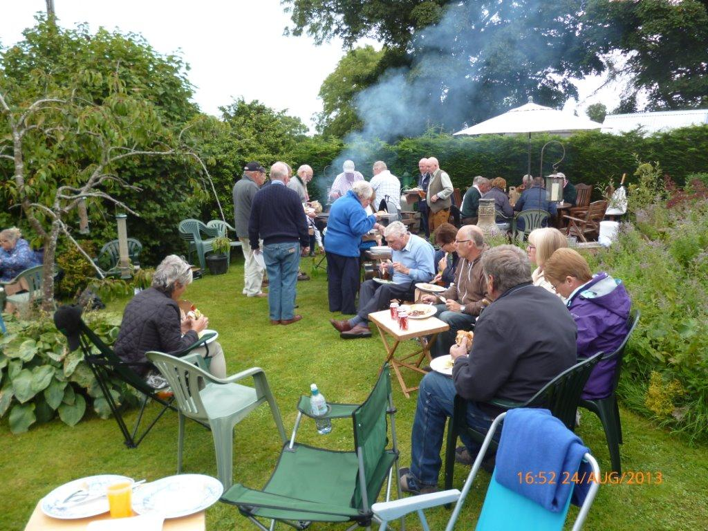 Members at the 2013 BBQ ar